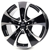 Alutec Dynamite 8.5x18 5x112 ET51 d66.5 Diamond Black Front Polished