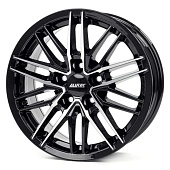 Alutec Burnside 7.5x17 5x108 ET47 d70.1 Diamond Black Front Polished