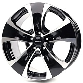 Alutec Dynamite 8.5x18 5x108 ET45 d70.1 Diamond Black Front Polished