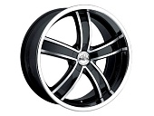Antera 381 9.5x20 5x120 ET40 d74.1 Diamond Black Front and Lip Polished