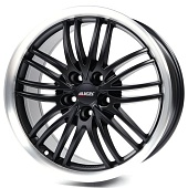 Alutec BlackSun 8.5x18 5x115 ET40 d70.2 Racing Black Lip Polished