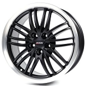Alutec BlackSun 8.5x19 5x114.3 ET40 d70.1 Racing Black Lip Polished