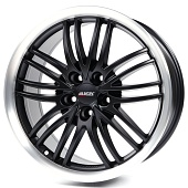 Alutec BlackSun 8.5x18 5x114.3 ET40 d70.1 Racing Black Lip Polished