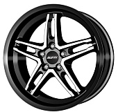 Alutec PoisonCup 9.0x18 5x112 ET40 d70.1 Diamond Black Front Polished