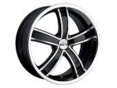 Antera 381 9.5x20 5x112 ET52 d66.6 Diamond Black Front and Lip Polished