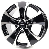 Alutec Dynamite 8.5x18 5x112 ET45 d57.1 Diamond Black Front Polished