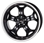 Alutec Boost 9.0x20 5x112 ET52 d66.6 Diamond Black With Stainless Steel Lip